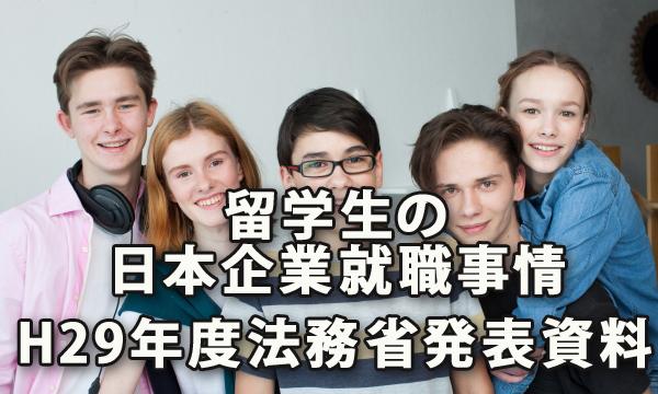 留学生の日本企業への就職事情(平成29年度法務省発表資料より)